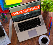 Geo Targeting. Online Working Concept Stock Photography