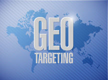 Geo targeting sign illustration design Stock Photography