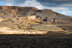 Geo thermal Power. Lava in the front and the tubes of Geo thermal Power Station, Krafla, Northen Iceland stock photos
