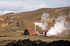 Geo thermal Power Station. Krafla, the Geo thermal Power Station, Northen Iceland stock image