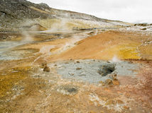 Geo Thermal South Iceland. Geiser in geothermal area of raykjavik Royalty Free Stock Photos
