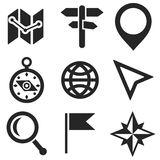 Geo web and mobile icons set. Vector. Royalty Free Stock Photography