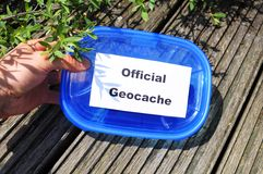 Geocache officiel Photos libres de droits