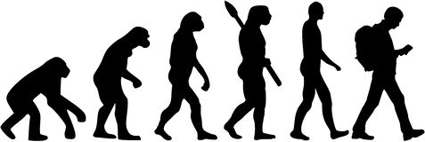 Geocaching ewolucja ilustracja wektor