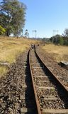 Geocaching près de la gare ferroviaire d'Inchanga images libres de droits