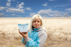 Geocaching by the sea Royalty Free Stock Images
