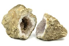 Geode Amethyst Photo stock