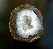 Geode on black background Royalty Free Stock Photo