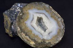Geode and lave rock Stock Image