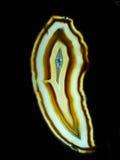 Geode rebanado hermoso Foto de archivo libre de regalías