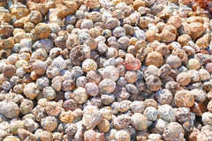 Geodes. Pile of circular shaped geodes Royalty Free Stock Photo