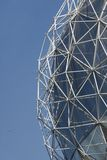 Geodesic Detail. A detail of a geodesic dome, invented by Richard Buckminster Fuller, against a blue sky Royalty Free Stock Image