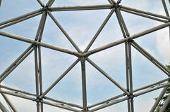 Geodesic Dome. Image of an overhead view of a geodesic dome Stock Photo
