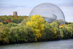 The geodesic dome Royalty Free Stock Photo