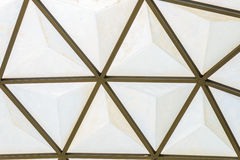 Geodesic dome roof structure Royalty Free Stock Images