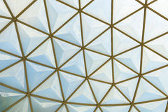 Geodesic dome roof structure Royalty Free Stock Photography