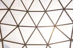 Geodesic dome roof structure Royalty Free Stock Photos