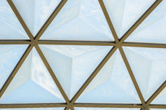 Geodesic dome roof structure Royalty Free Stock Photo