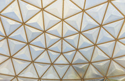 Geodesic dome roof structure Royalty Free Stock Image