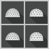 Geodesic dome Vector flat Royalty Free Stock Images