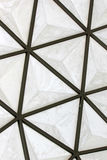 Geodesic fiberglass dome roof structure Royalty Free Stock Photo