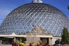 Geodesic glass dome Royalty Free Stock Photography