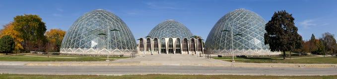 Geodesic Glass Greenhouse royalty free stock photo