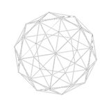 Geodesic grid. Meshes. Sacred Geometry Stock Photography