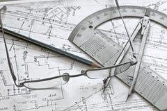 geodesy принципиальной схемы стоковая фотография