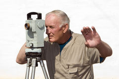 geodesy Fotografering för Bildbyråer