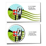 Geodesy and cadastre business card Stock Images