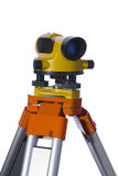 Geodesy level. The isolated level of yellow colour on a support Stock Photography