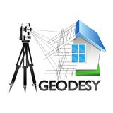 Geodesy symbol for surveyor vector. Geodesy is a symbol for a business surveyor Stock Images