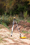 The geodetic device on a building site Royalty Free Stock Photography