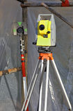 Geodetic instruments Stock Photo