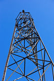 Geodetic point against blue sky Royalty Free Stock Image