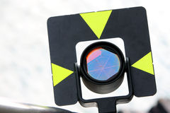 Geodetic Reflect Signal. Close-up Shot of Geodetic Reflect Signal Stock Photo