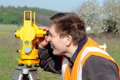 Geodetic survey Royalty Free Stock Photography