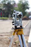 Geodetic theodolite instrument Royalty Free Stock Images