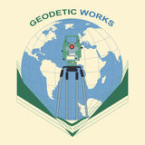 Geodetic works Stock Images
