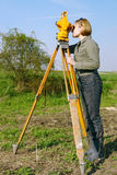 geodetisk granskning Arkivbild