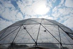 Geodetisk plast- kupol Fotografering för Bildbyråer