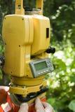geodezyjna stacji pomiarowej narzędzia suma Zdjęcia Royalty Free