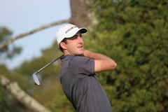 Geoff Ogilvy, Tour Championshi. Geoff OgilvyChampionship, PGA Tour 2006, practice  drive iron Stock Photo