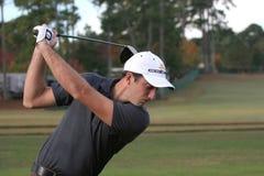 Geoff Ogilvy, Tour Championship, Atlanta, 2006. Geoff OgilvyChampionship, PGA Tour 2006, practice  drive and smiling Royalty Free Stock Images