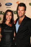 Geoff Stults, Mercedes Masohn. LOS ANGELES - SEP 12:  Mercedes Masohn, Geoff Stults arriving at the 7th Annual Fox Fall Eco-Casino Party at The Bookbindery on Royalty Free Stock Images