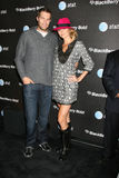 Geoff Stults,Stacy Keibler. Stacy Keibler& Geoff Stults arriving at the Blackberry Bold Event in Beverly HIlls, CA on  October 30, 2008 Royalty Free Stock Image