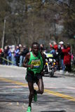 Geoffrey Mutai races up Heartbreak Hill Royalty Free Stock Photos