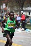 Geoffrey Mutai wins the Boston Marathon Royalty Free Stock Photos