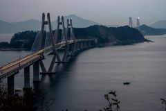 Geoga-Hängebrücke Lizenzfreie Stockfotos